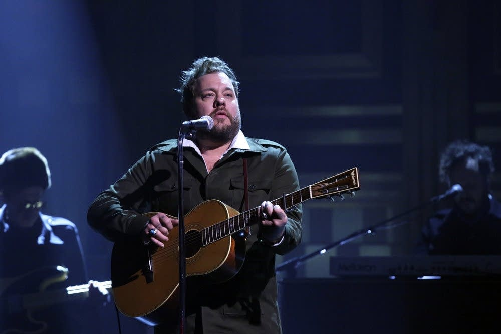 Nathaniel Rateliff performs on The Tonight Show on NBC
