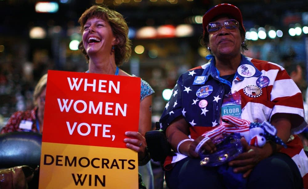Women voters at the DNC