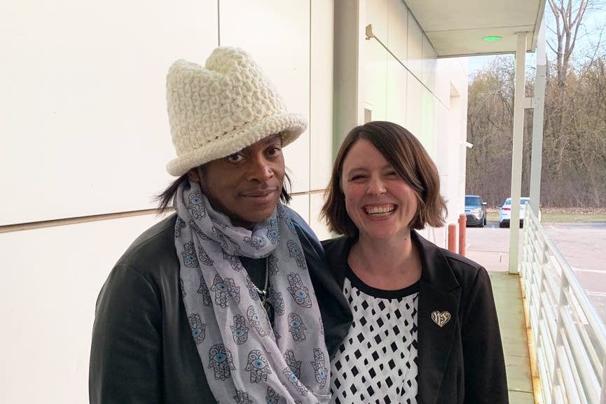 Jesse Johnson and Andrea Swensson at Paisley Park