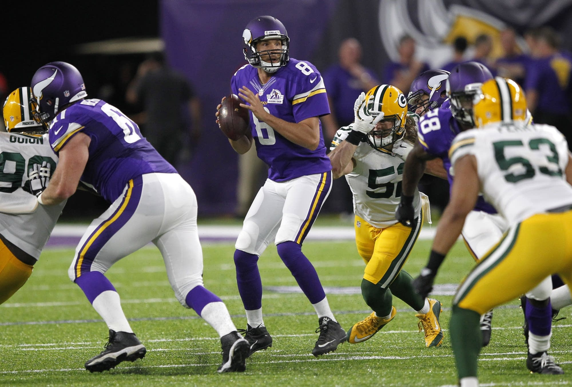 Bradford trumps Rodgers in debut as Vikes beat Pack 17-14  ced2a982f