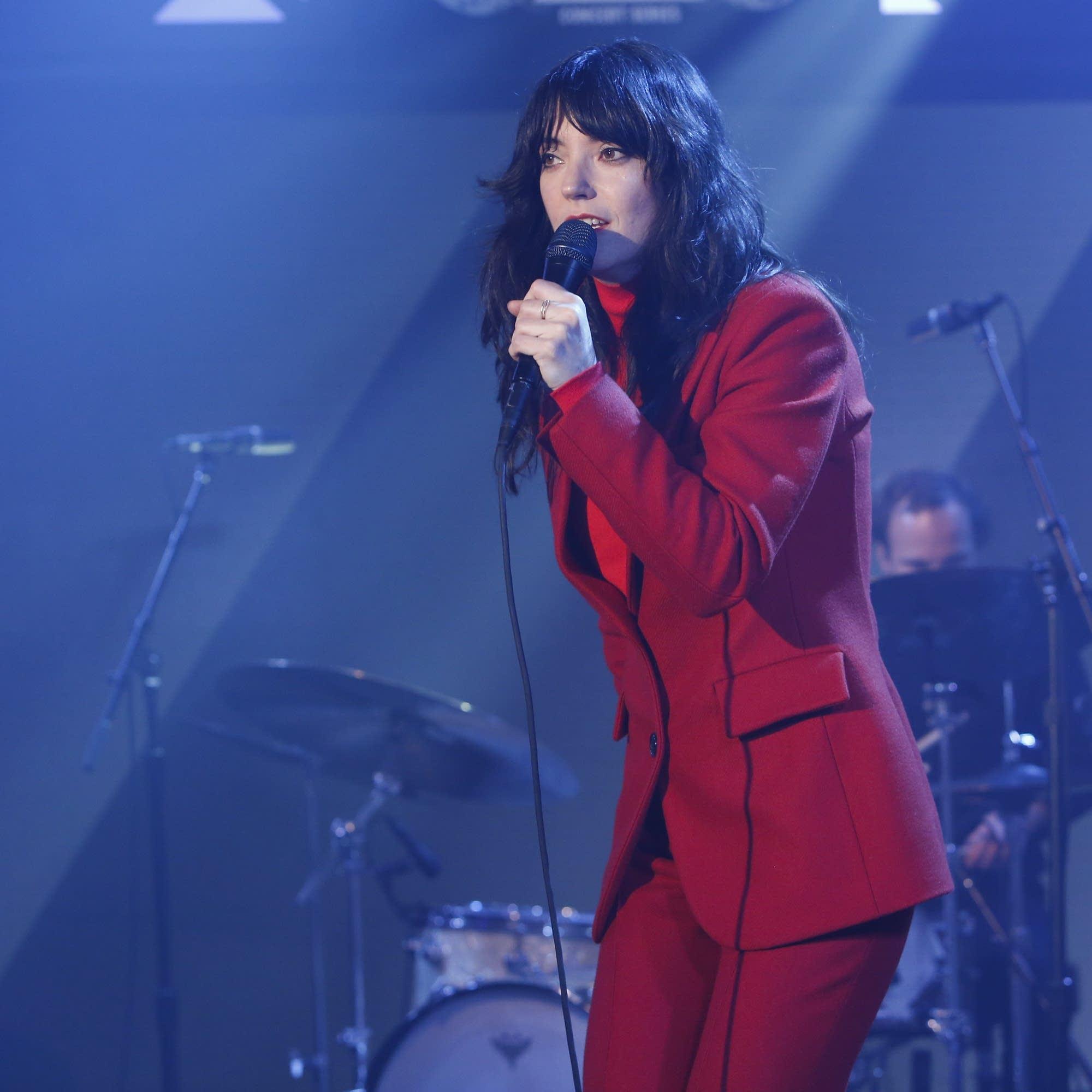Sharon Van Etten performs on 'Jimmy Kimmel Live!' on ABC