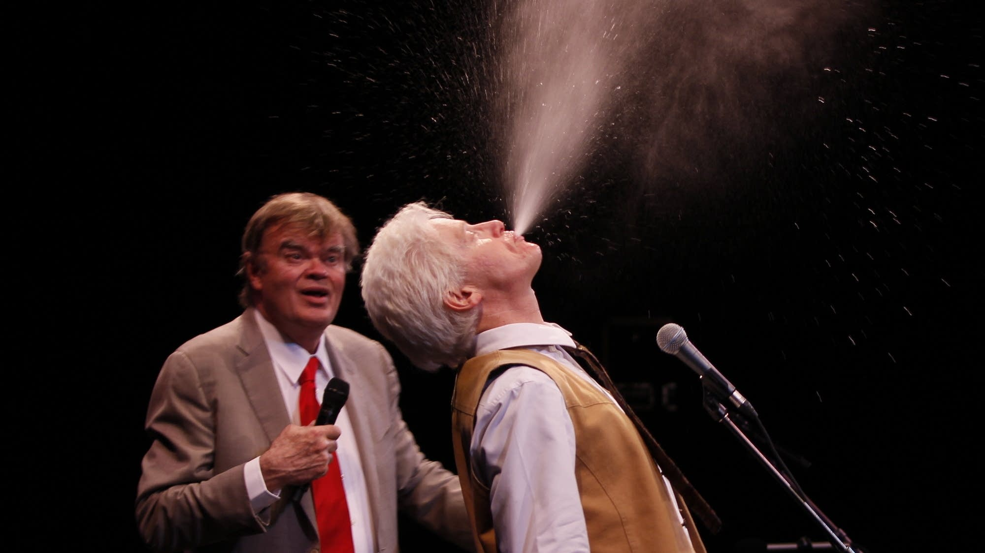 Garrison Keillor and Fred Newman