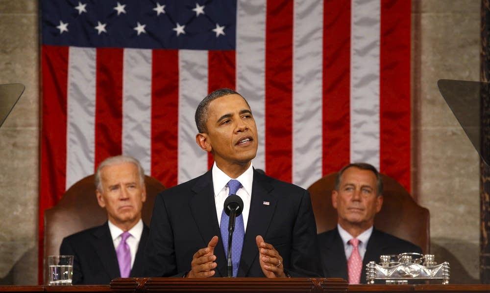 President Barack Obama delivers a speech