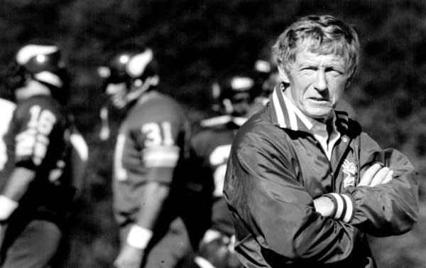 Minnesota Vikings coach Jerry Burns