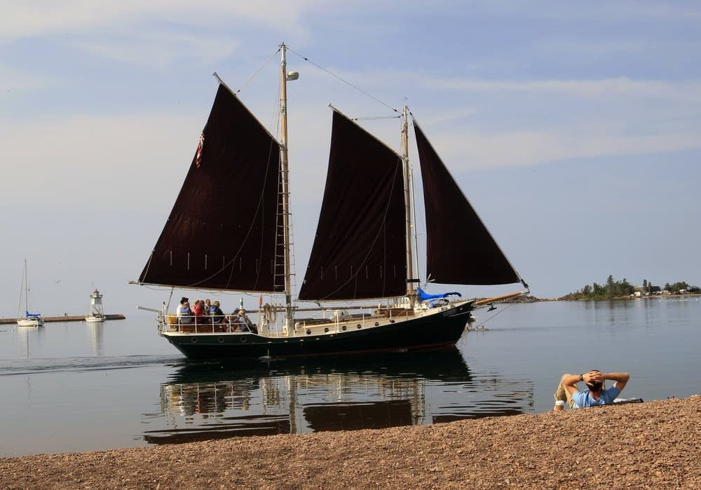 North House Folk School's sailboat Hjiordis