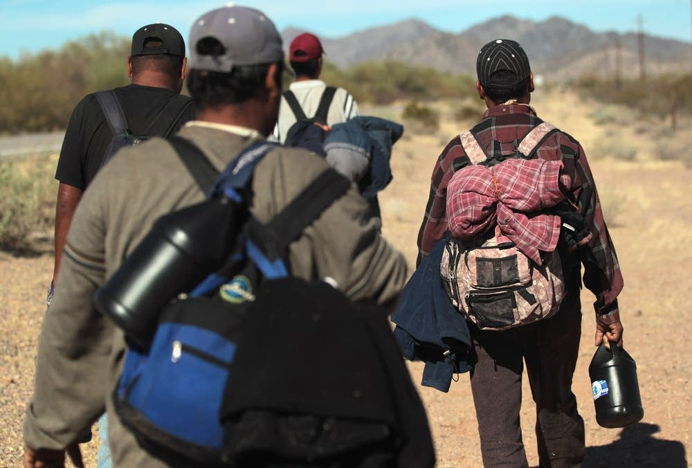 Crossing into the U.S. illegally