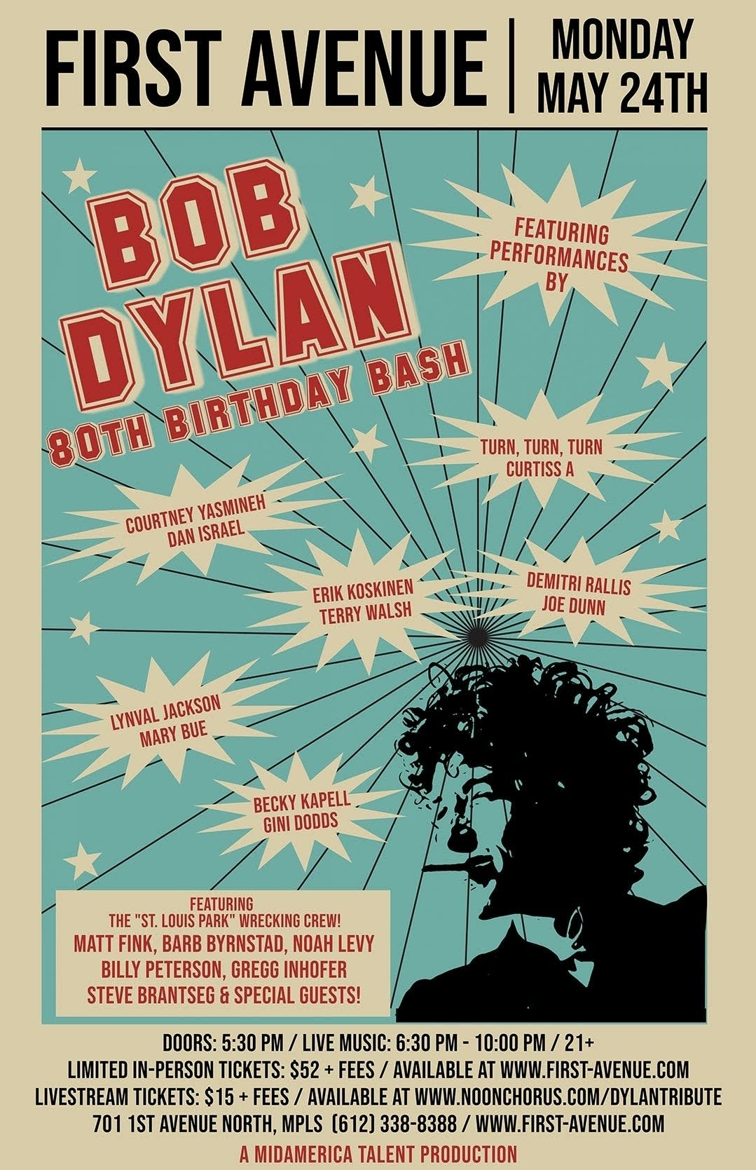 Bob Dylan 80th Anniversary Birthday Bash Tribute