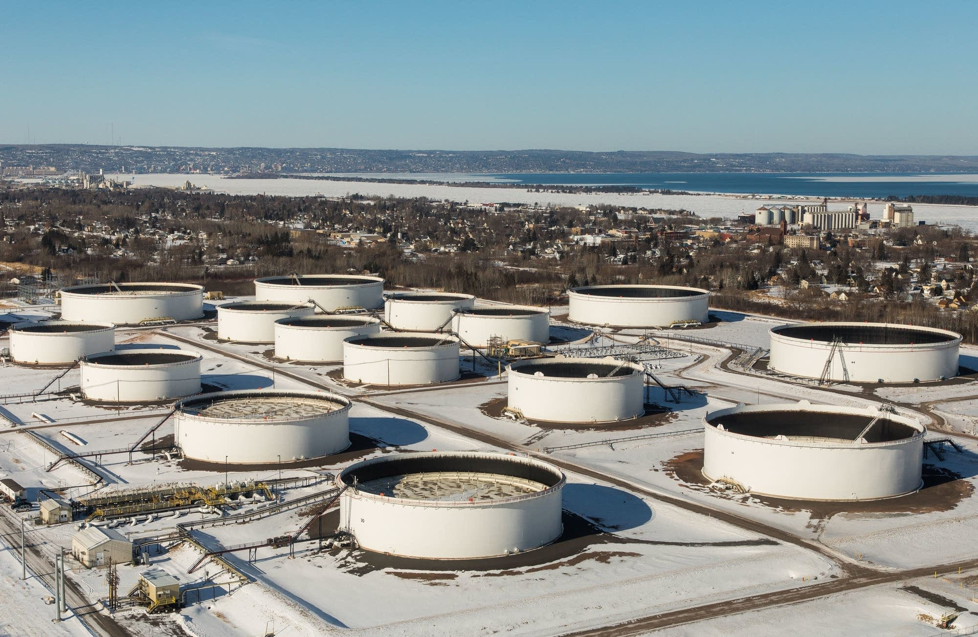 Enbridge's Superior Terminal receives the majority of its oil from Canada.
