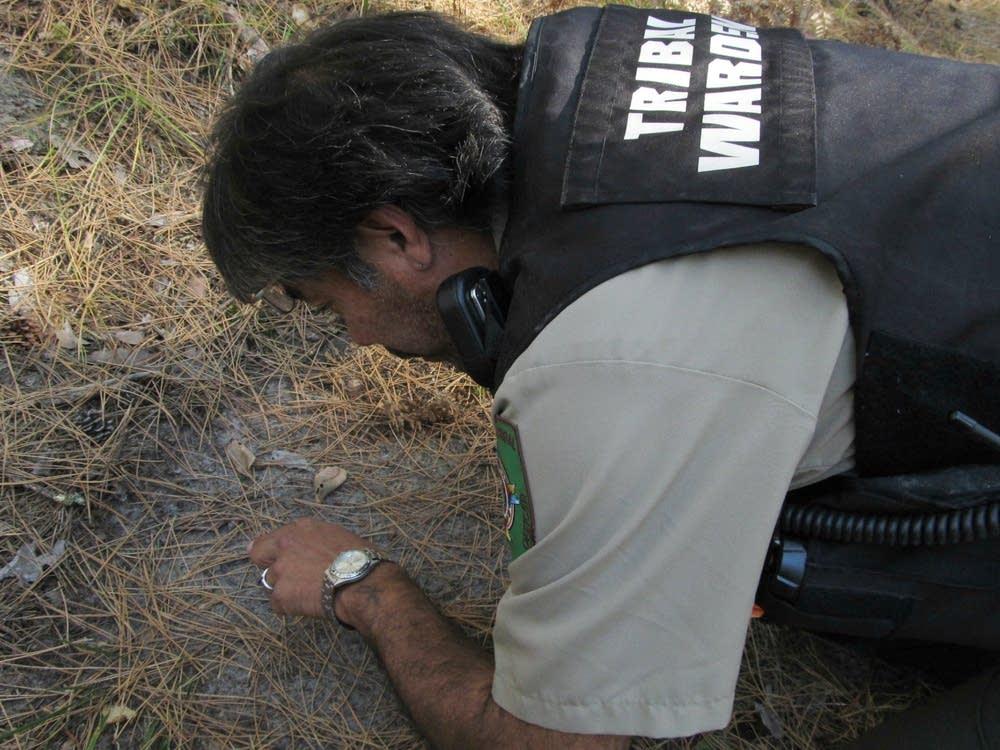 Examining a footprint