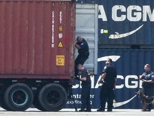 About 16.5 tons of cocaine seized from a large ship.