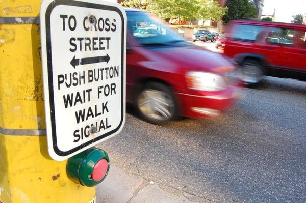 Crosswalk on a busy street