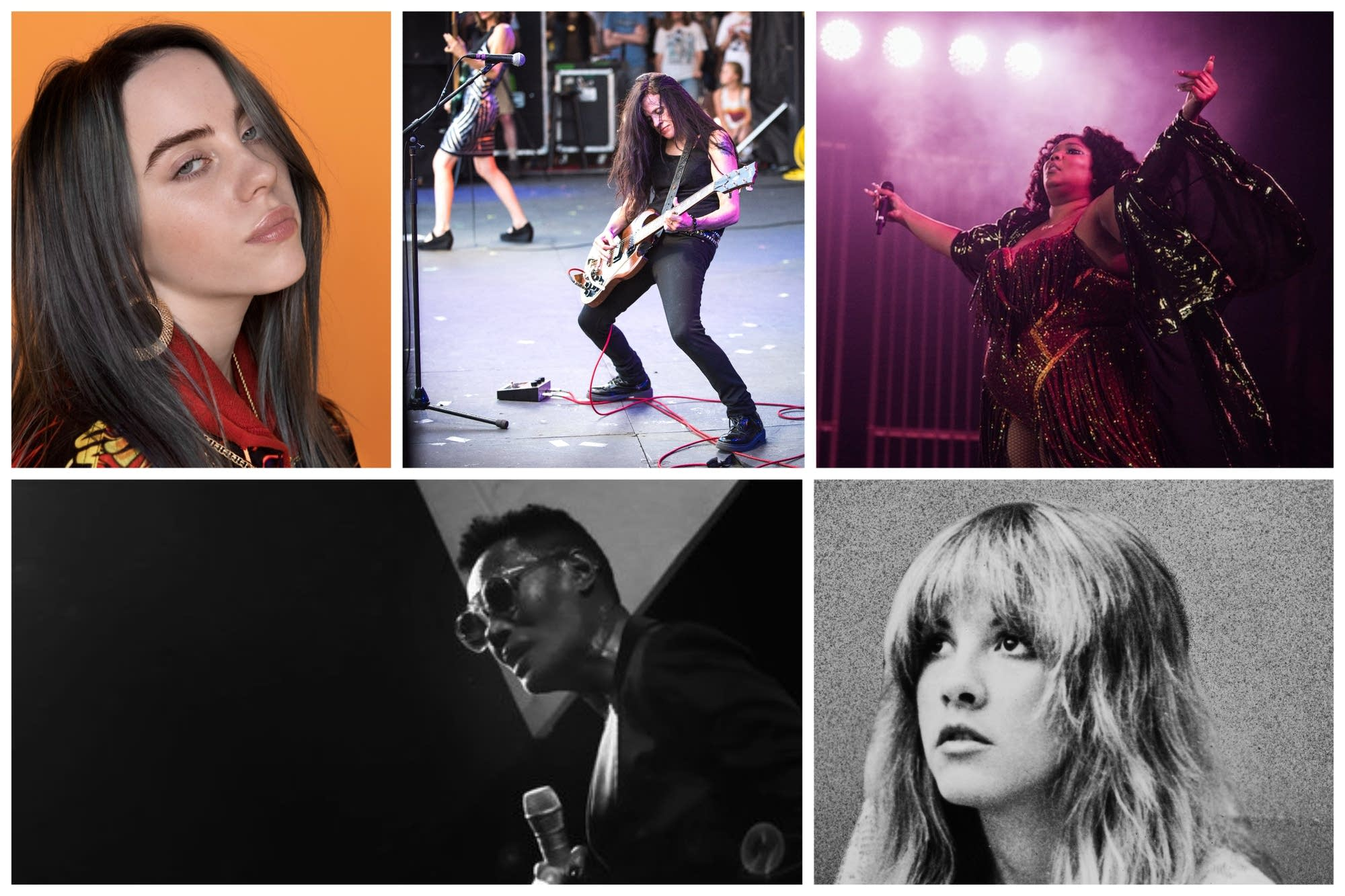 A collage of remarkable women musicians.