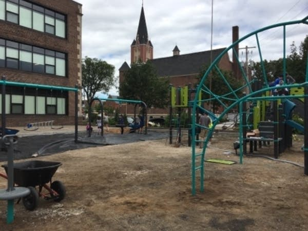The playground at Ascension Catholic Church and School.