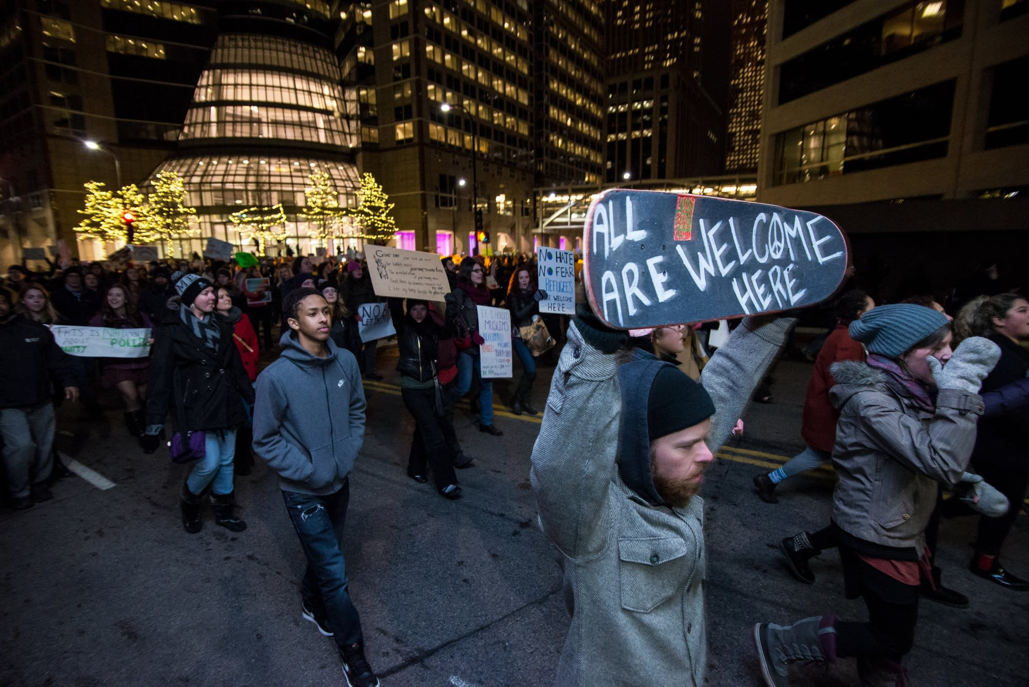 Protesters amass in Minneapolis