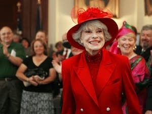 Actress Carol Channing in Concord, N.H.