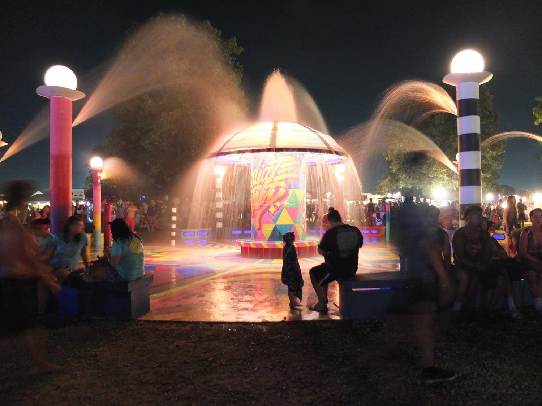 Fountain at Bonnaroo
