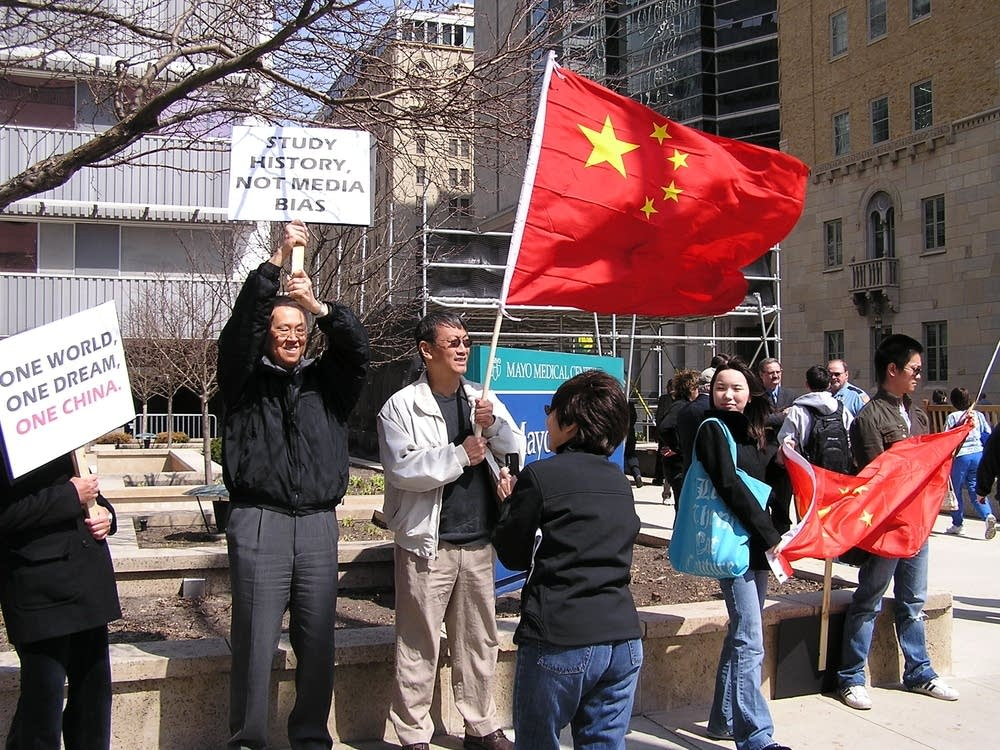 Chinese demonstrators