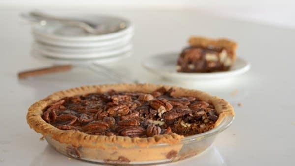 Bourbon, Chocolate, and Walnut Pecan Pie