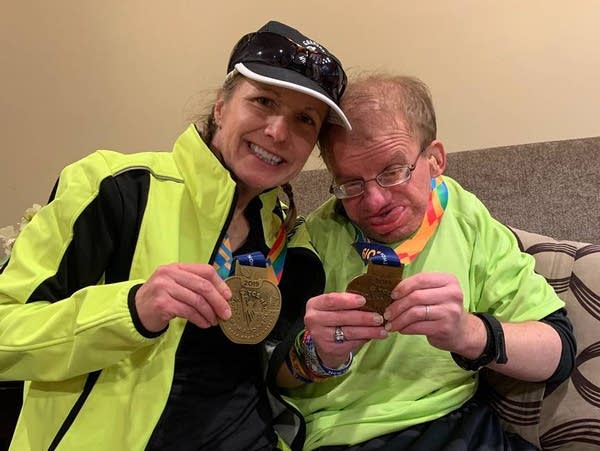 Sunny Klein and her brother Joe Sommers, who uses a wheelchair