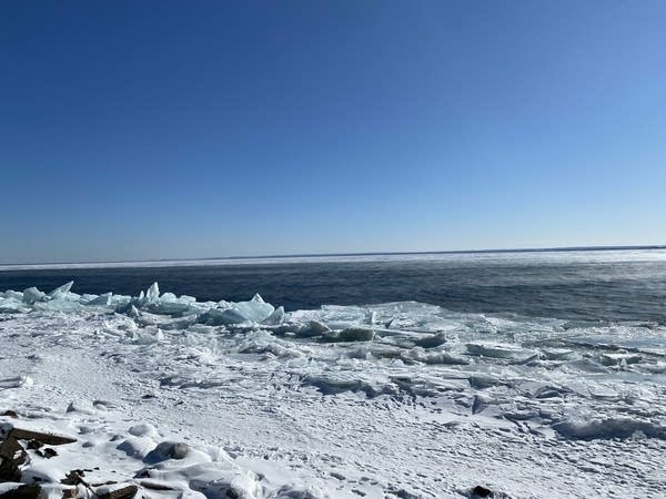 A view of Lake Superior and the ice.