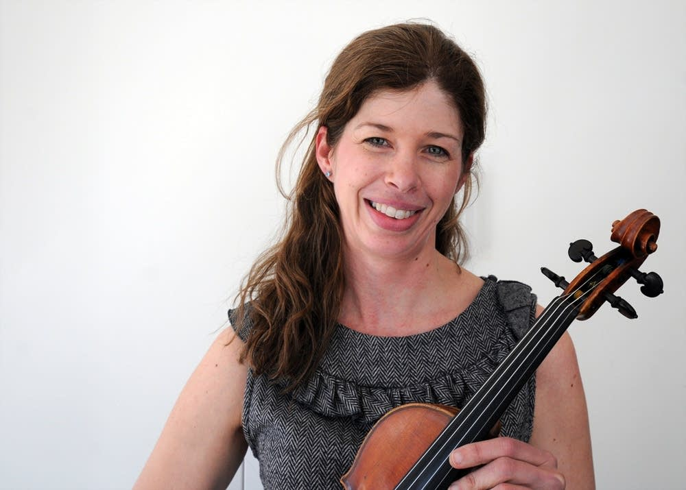 Jill Olson Moser at Classical MPR's studios
