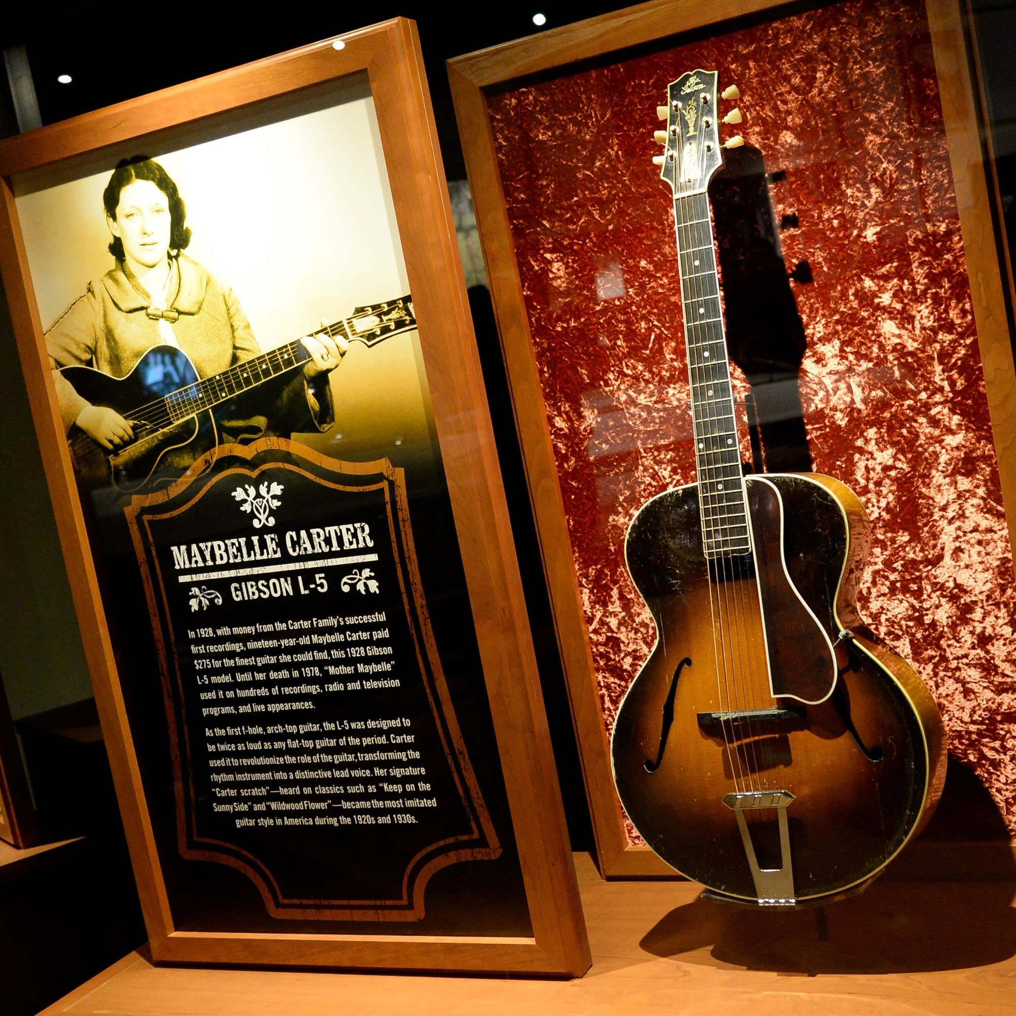 Maybelle Carter exhibit at the Country Music Hall of Fame and Museum