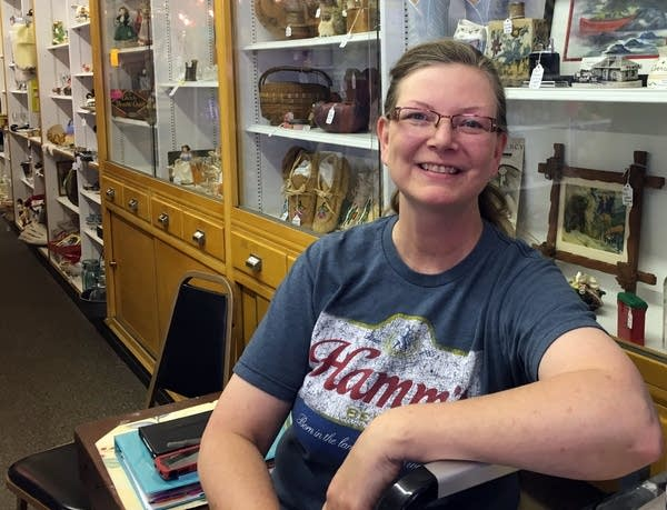Antiques store owner Vicky Meloche.
