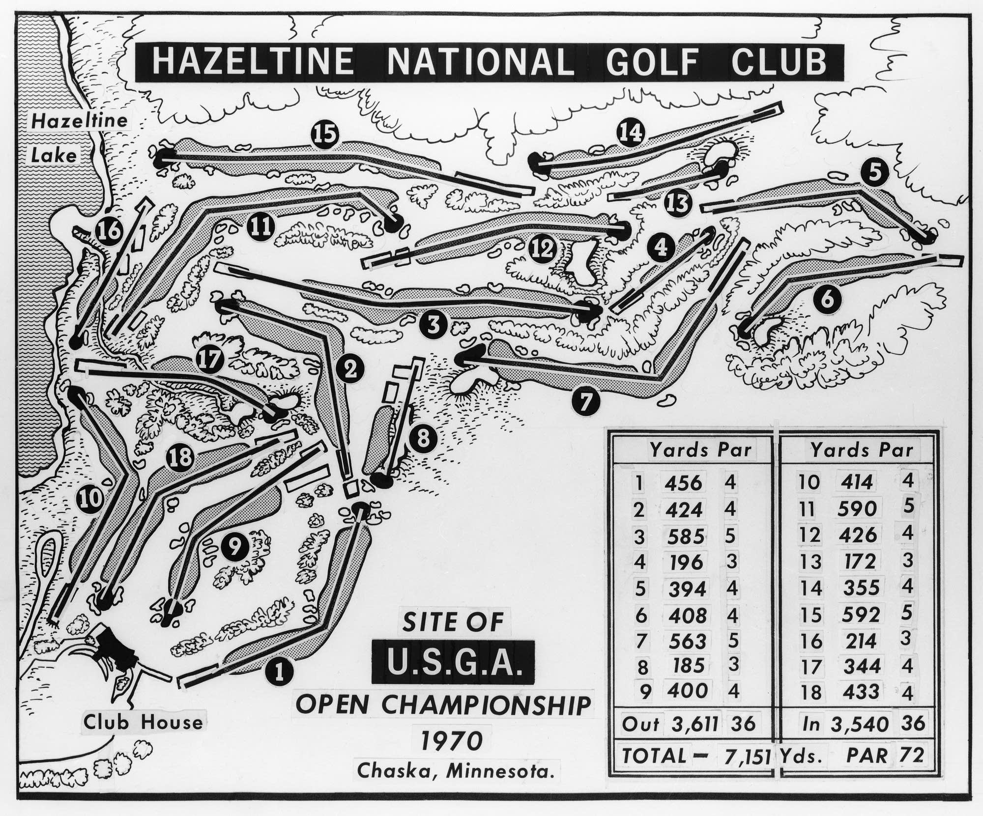 From Farm Fields To The Worlds Stage A History Of Hazeltine - Us open map
