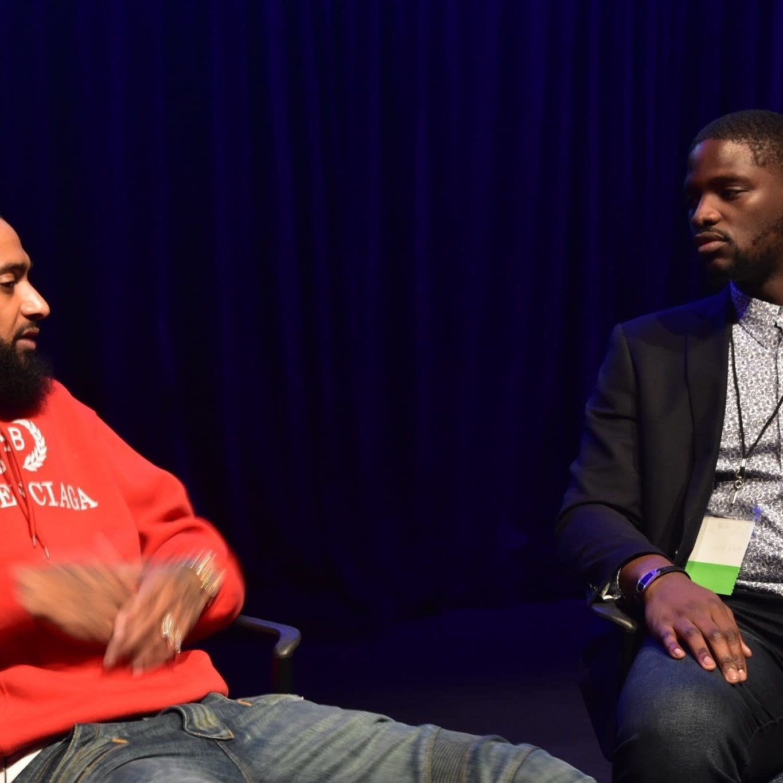Jeffrey Bissoy interviews Nipsey Hussle at BITCON