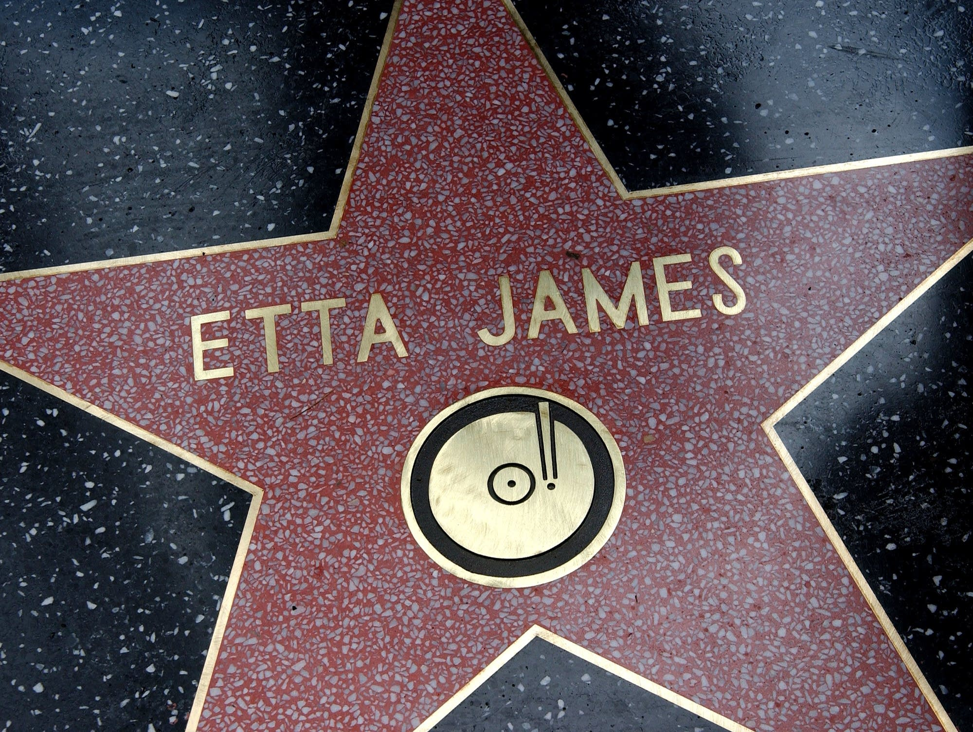 Etta James star on the walk of fame
