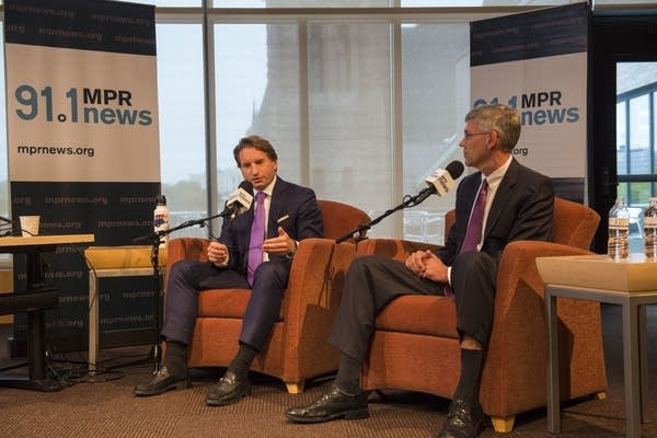 Erik Paulsen and Dean Phillips debate hosted at UBS Forum at MPR, Oct. 5.