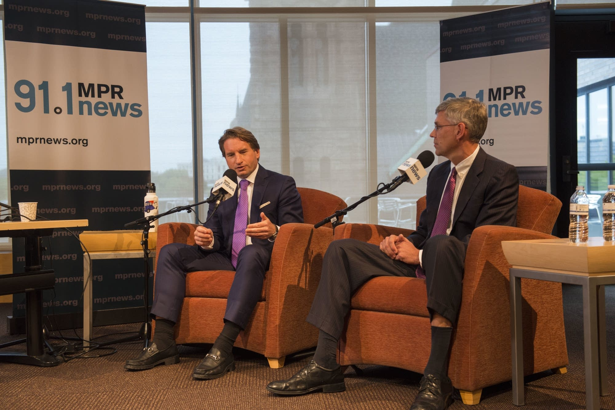 Erik Paulsen and Dean Phillips debate hosted at UBS Forum at MPR, Oct. 5.