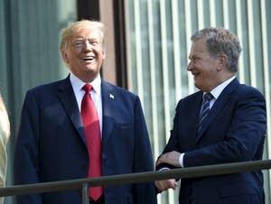 President Trump and Finnish President Sauli Niinisto