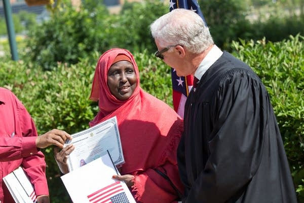 Safiyo Mohamed with Judge Steven Rau.