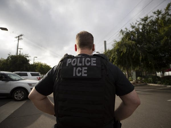 A U.S. Immigration and Customs Enforcement (ICE) officer