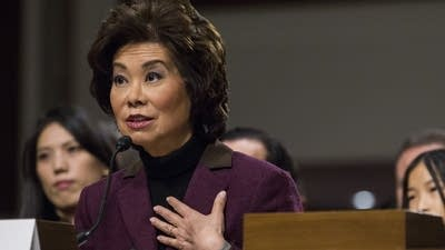 Elaine Chao, champion of Trump's infrastructure plan, chose to keep stock in a building company