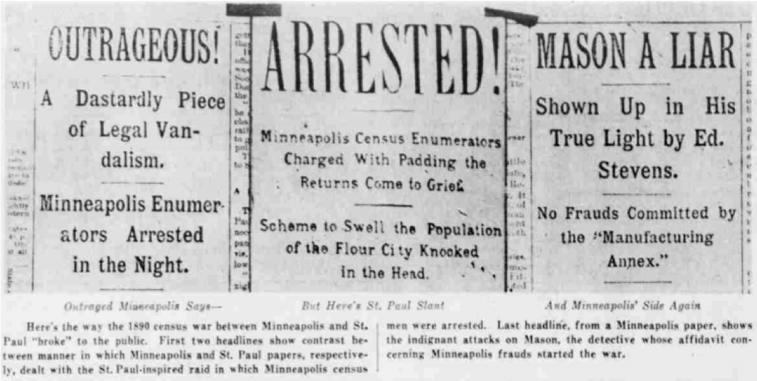 An old newspaper headline