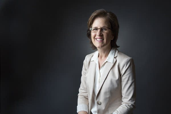 DFL State Auditor Rebecca Otto sits for a portrait.