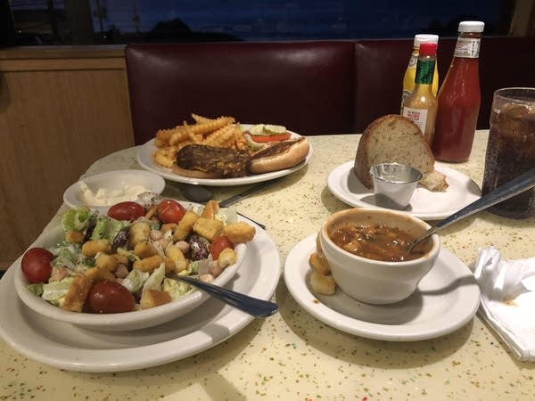 Luke's meal at Louis' Diner in San Francisco's Lands End neighborhood