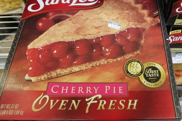 A frozen cherry pie in a store's freezer in Palo Alto, Calif.