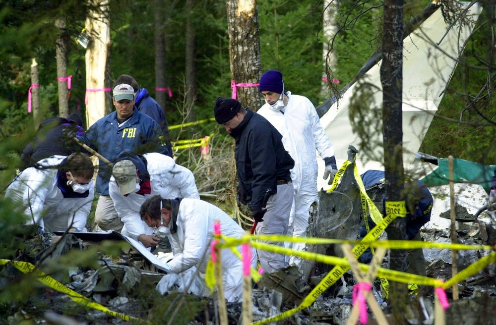 Wellstone plane crash scene
