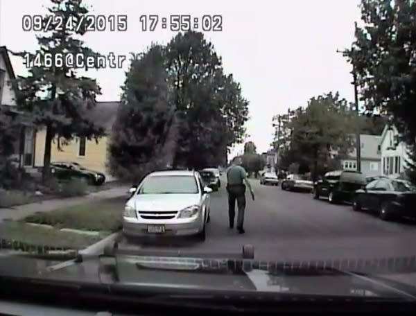 Frame grab of squad car dash camera video