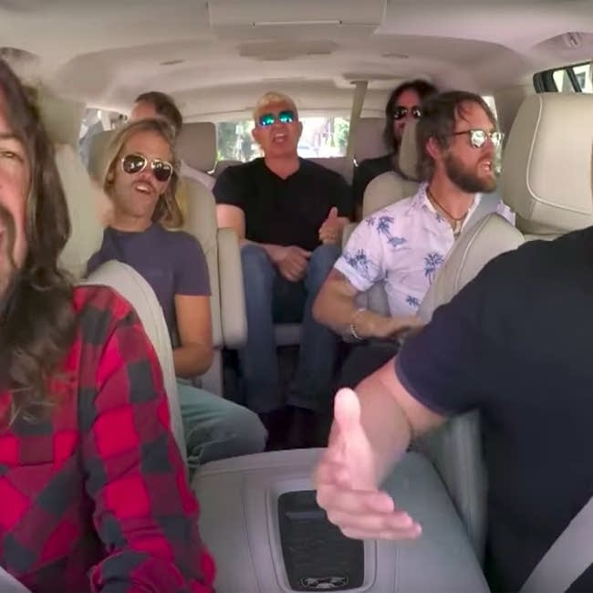 Foo Fighters join James Corden for Carpool Karaoke.