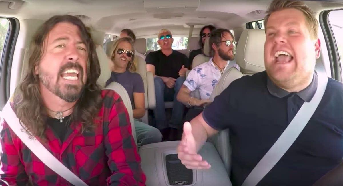 Foo Fighters join James Corden for Carpool Karaoke.