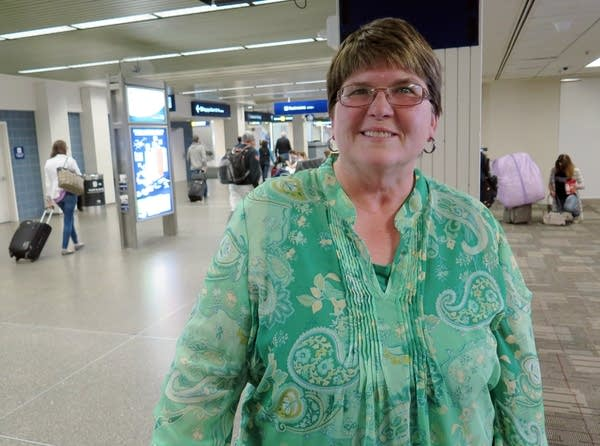Elaine Pierce, Bozeman, is wary of buying plane tickets through services.