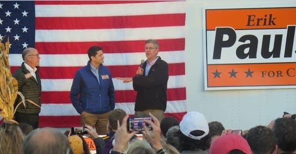 Paul Ryan campaigns for Erik Paulsen
