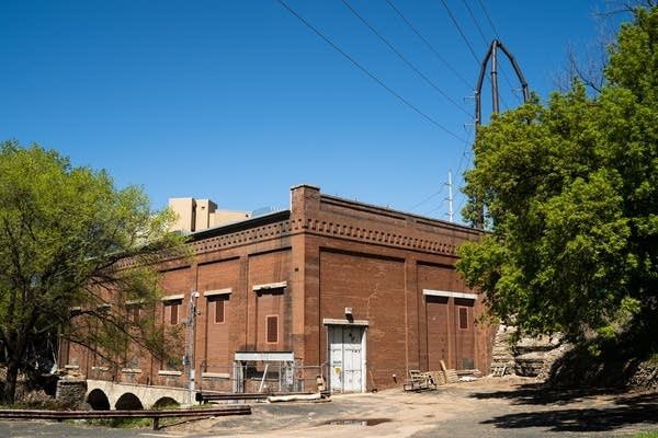 The Hennepin Island Powerhouse sits tucked away along the Mississippi River