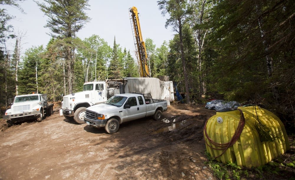 Drill rig in BWCAW