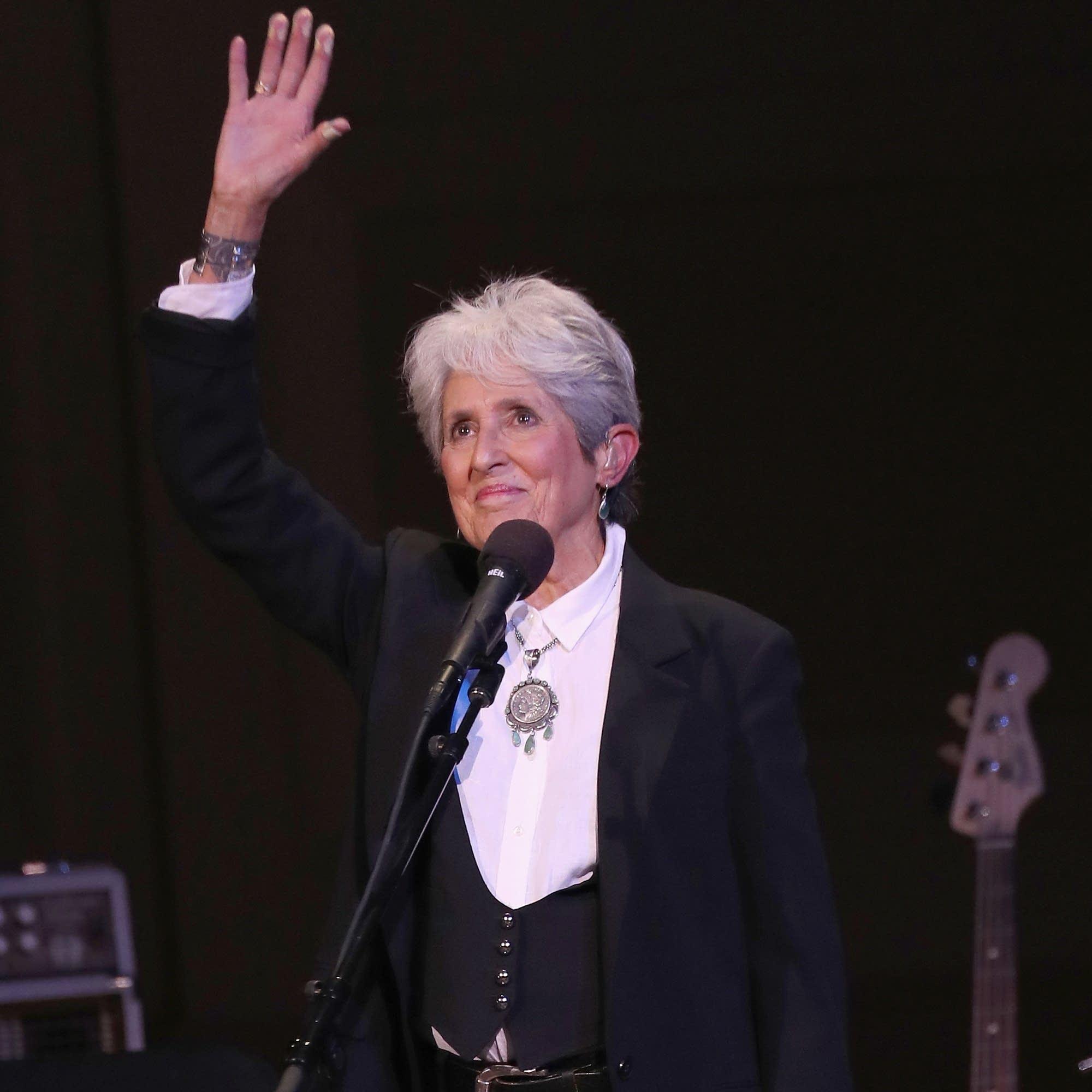 Joan Baez at Carnegie Hall in November 2017.