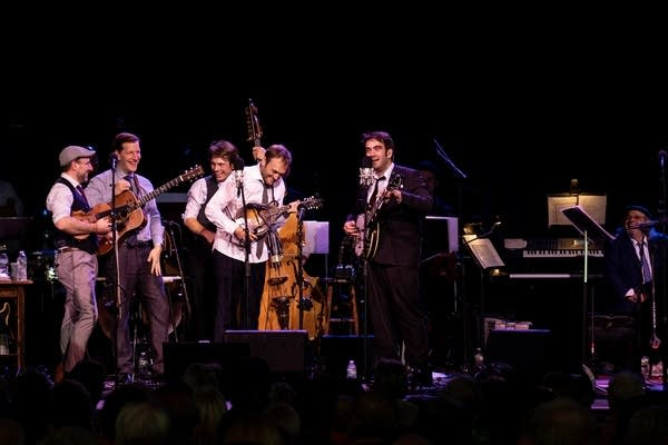 Noam Pikelny cracks up his fellow Punch Brothers, as well as the audience.
